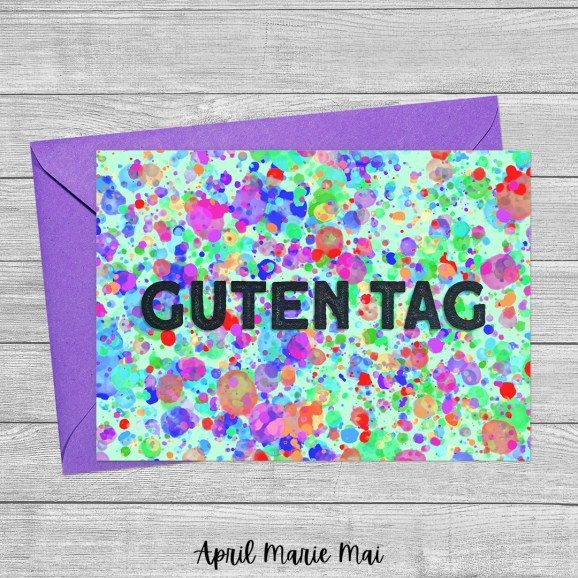 Guten Tag: Hello in German Printable Greeting Card