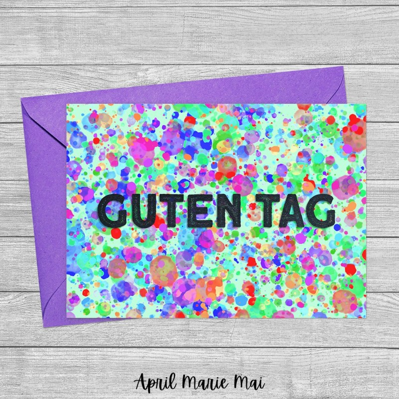 Guten Tag: Hello in German Printable Greeting Card