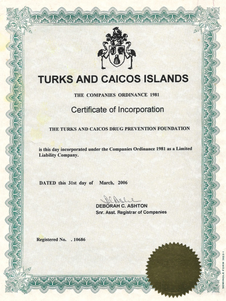 DPF Certificate of Incorporation