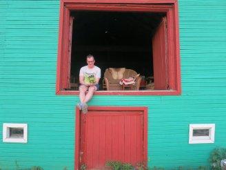 Arthur in the barn