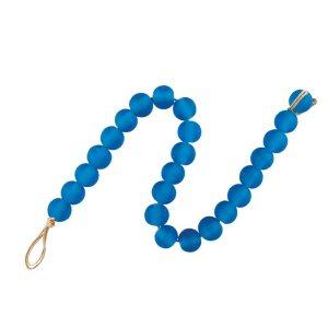 Blue Glass Coffee table Decor Beads