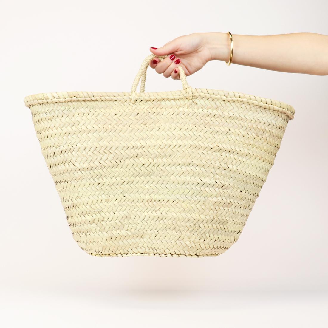 Straw Bag - Miami French Market Basket