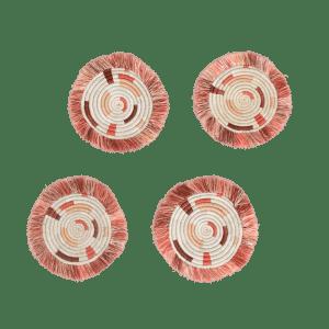 Coral Fringe Drink Coaster Gift for 2021