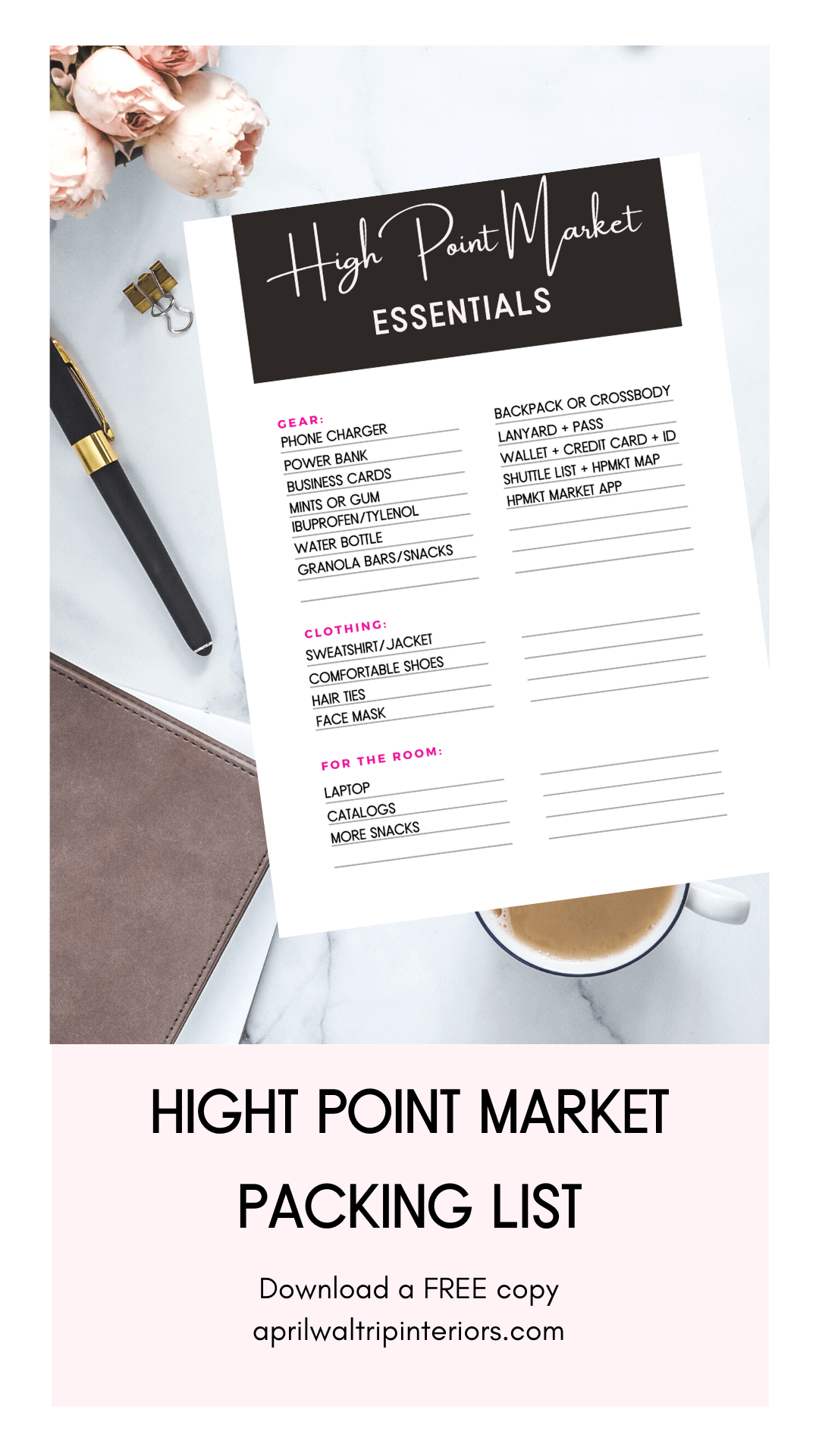 High Point Market Packing Lis
