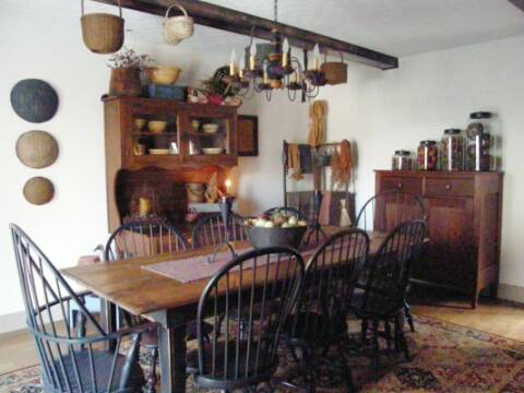 chair with accessories swing covers argos a primitive place ~ & colonial inspired dining rooms