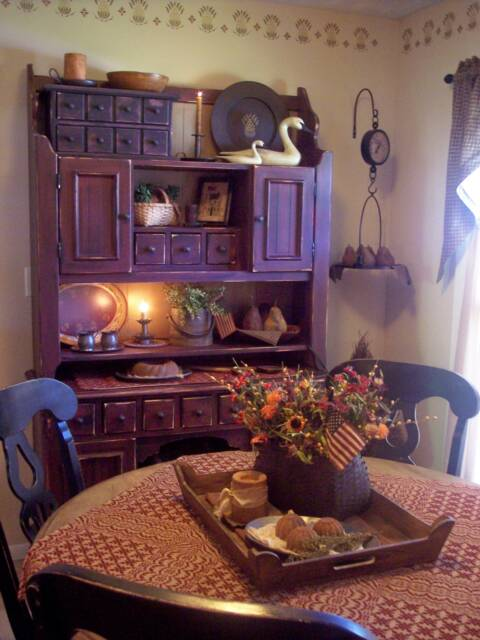 A Primitive Place  Primitive & Colonial Inspired Dining Rooms