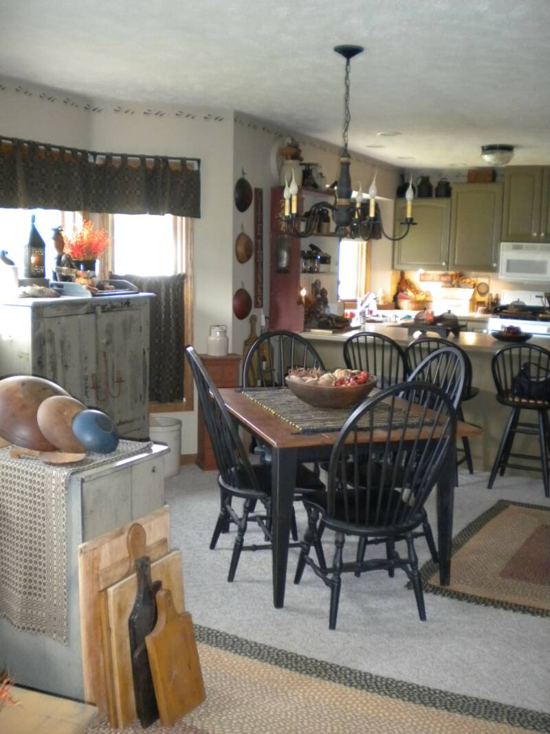 Country Kitchen And Living Room