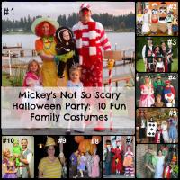 Mickey's Not So Scary Halloween Party-10 Fun Family Costume Ideas