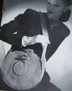 40s crochet purse