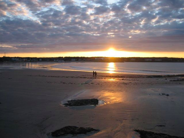 Sunrise Over Gooch's Beach, Kennebunkport, ME