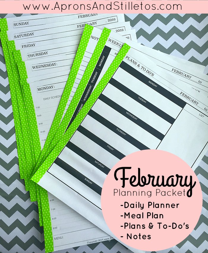 February Planning Packet Printable