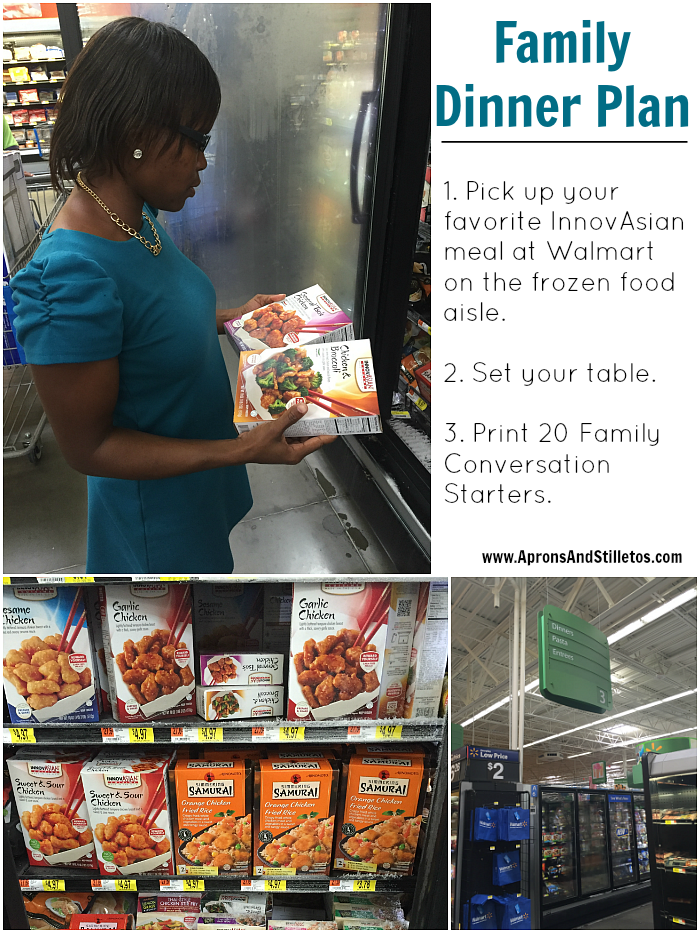 Family Dinner Tour | Plus 20 Family Conversation Starters Printable #NoTakeoutNeeded
