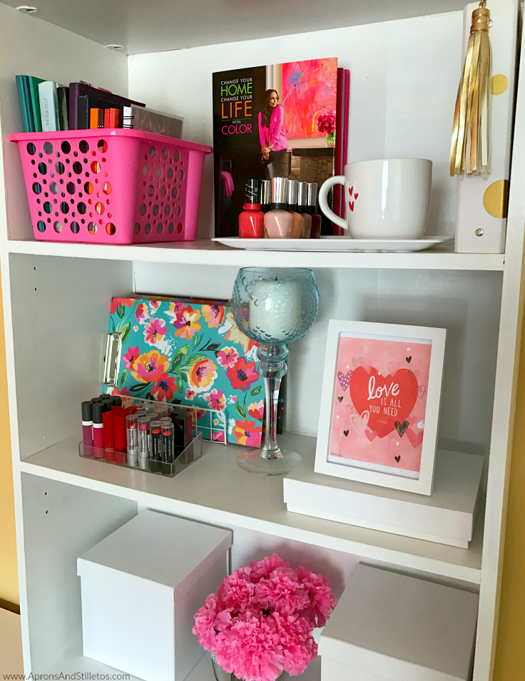 Office Bookshelf Update #ad #LiveLoveColor