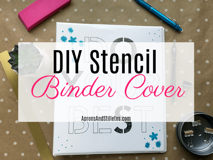 DIY Stencil Binder Cover