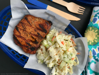 Grilled Pork Chops with Mint and Lime Basil Slaw-