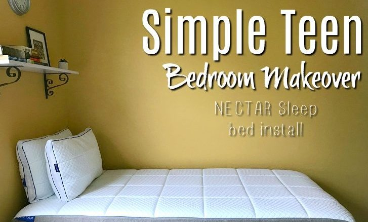 Simple Teen Bedroom Makeover | NECTAR Sleep Bed Install