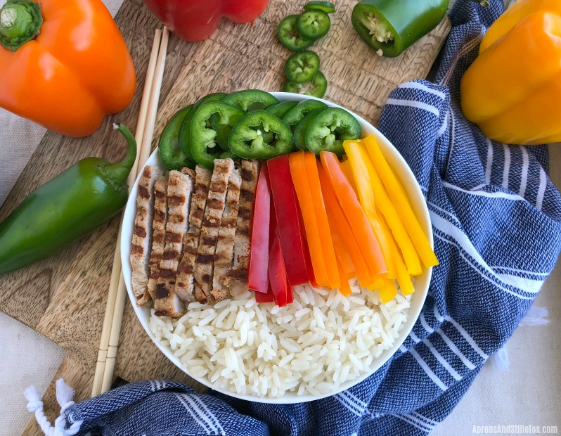 Slow Roasted Rotisserie Pork Rice Bowl | Ready in 30 Minutes