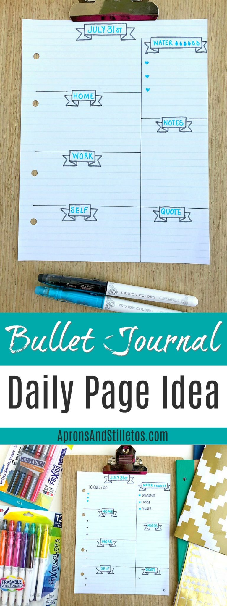 BULLET JOURNAL DAILY PAGE IDEA