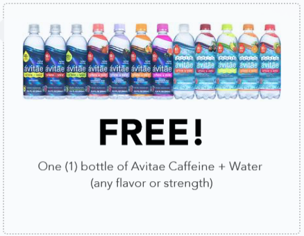 Free bottle of Avitae Caffeine plus Water