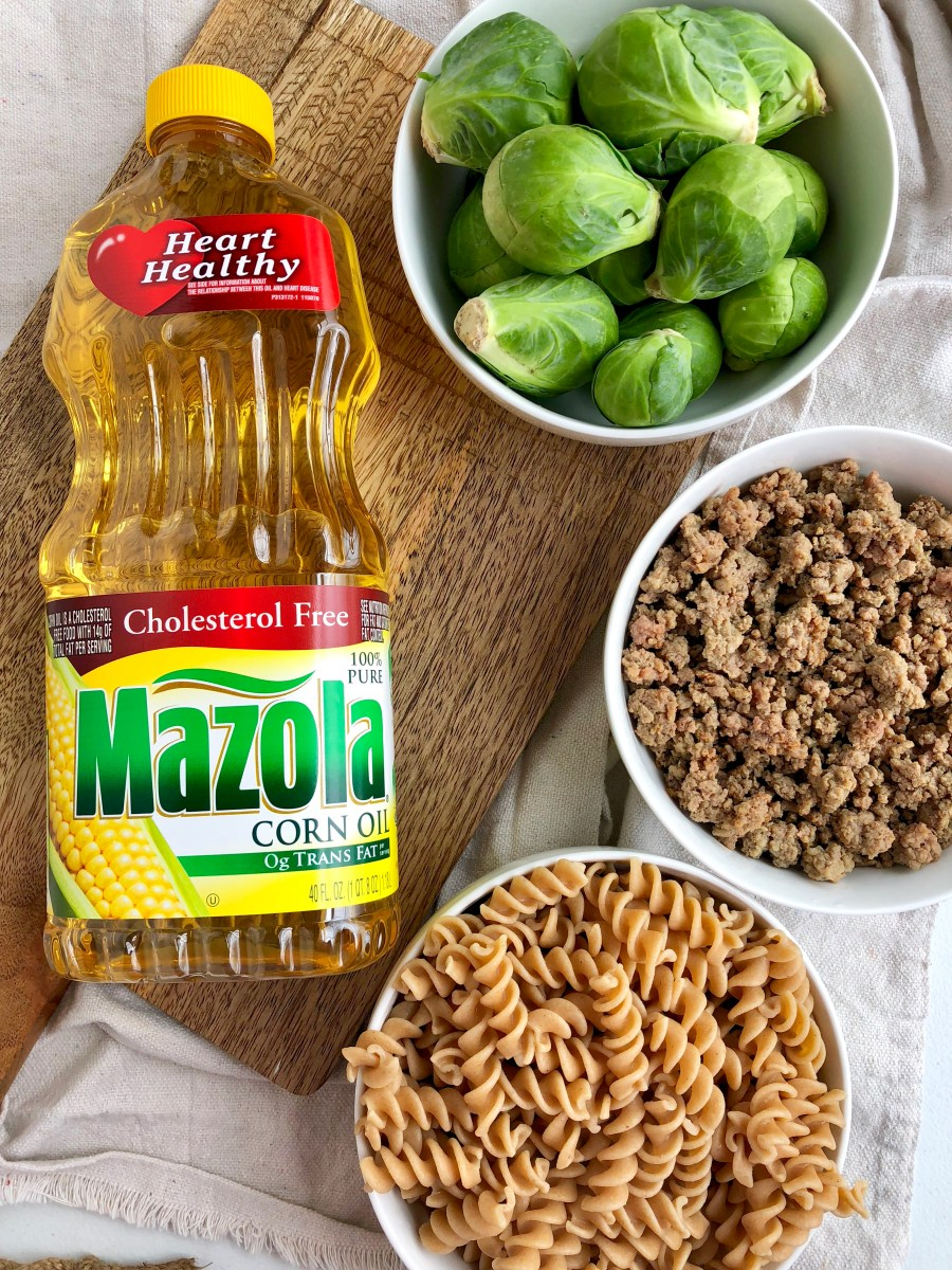 Brussel Sprout Rotini Casserole