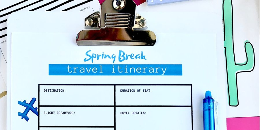 FREE Printable Spring Break Travel Itinerary