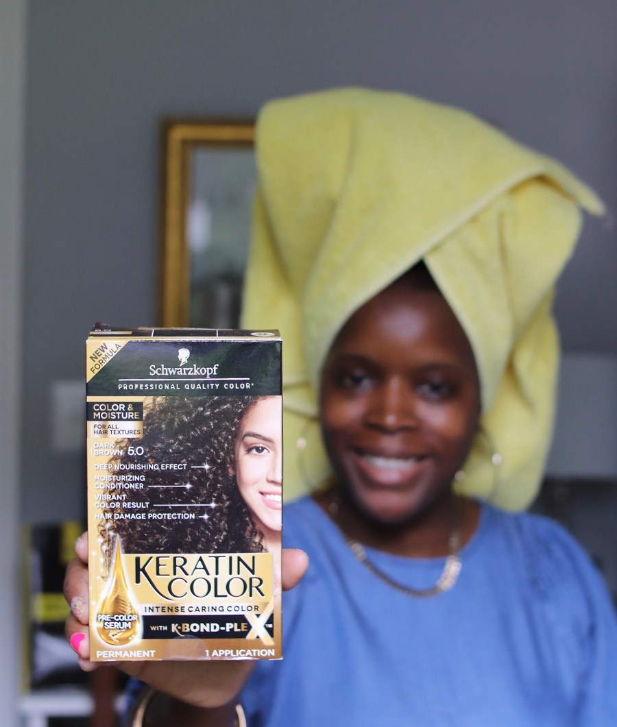 Frugal Fall Color & Knotless Braid on 4C Hair