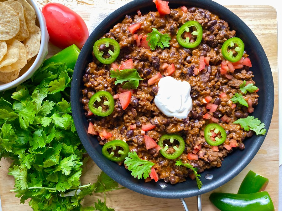 One Pot Tailgate Chili Cheese Dip