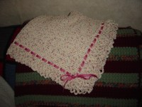 Crochet Cotton Baby Blanket | apron strings