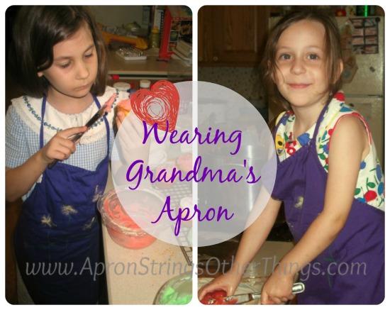 Wearing Grandmas Apron