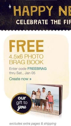 FREE 4.5×6 Photo Brag Book at Walgreens ($6.99 Value)