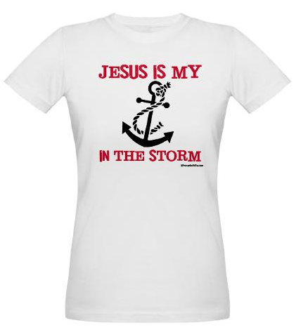 Jesus is my Anchor Magenta Fitted