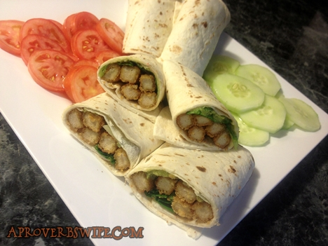 Recipe: Spicy Tyson Chicken Fry Wrap - AProverbsWife.com