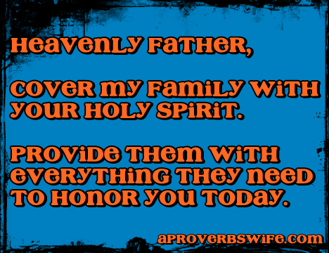 prayer for family - AProverbsWife.com