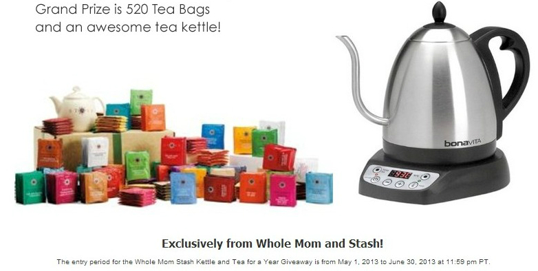 Enter To Win Stash Tea For A Year From Whole Mom