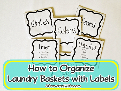 How to Organize Laundry Baskets with Labels
