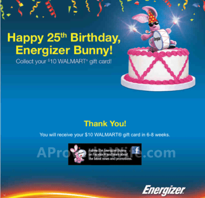 Energizer MAX Batteries Rebate #BunnyBirthdayWMT #shop #cbias