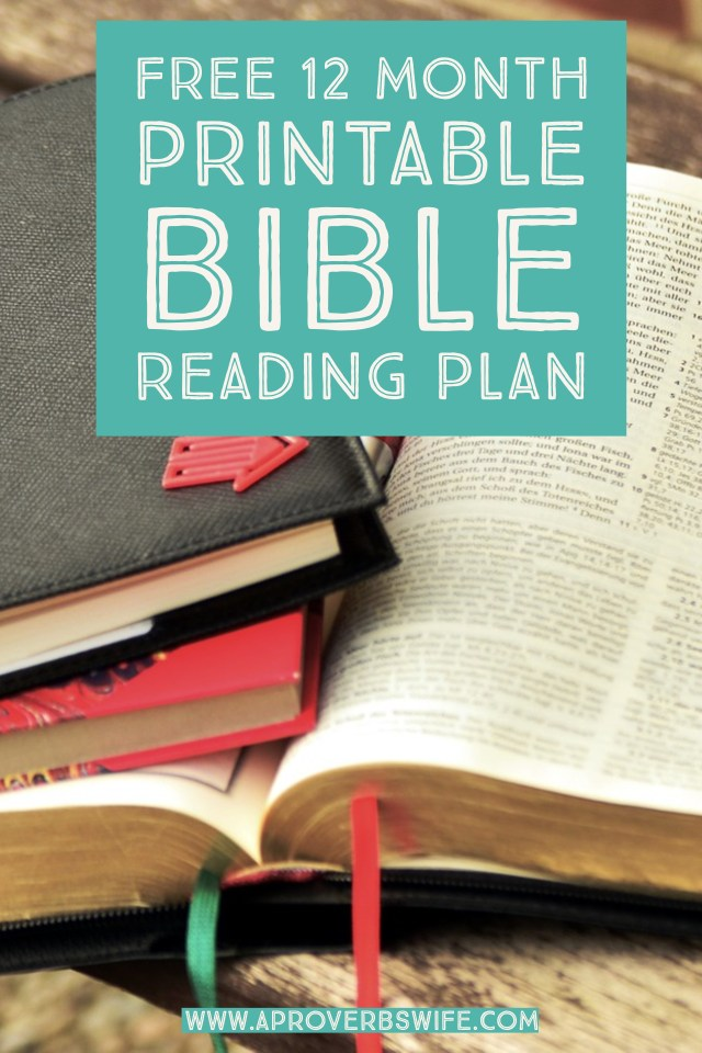FREE 12 Month Printable Bible Reading Plan