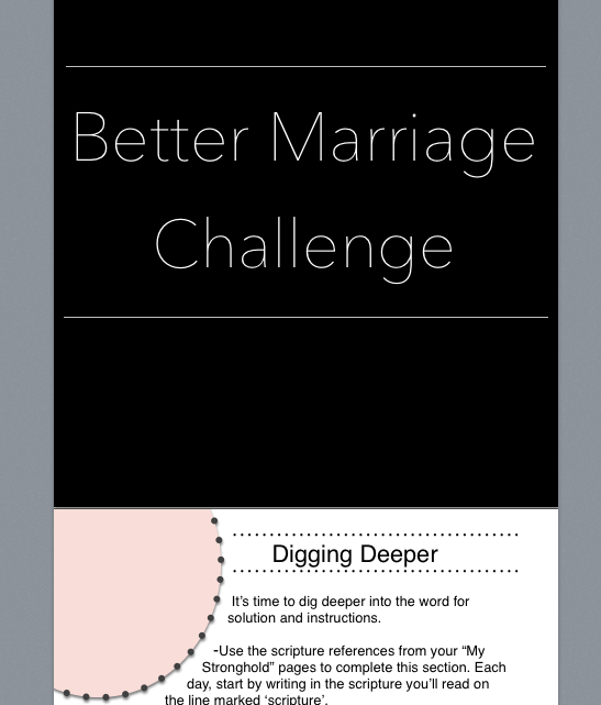 The Better Marriage Challenge