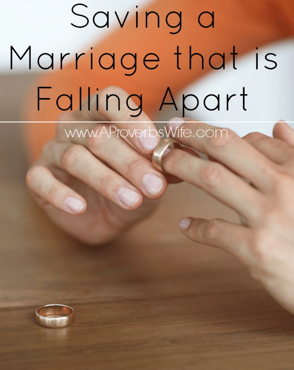 Saving a Marriage That Is Falling Apart