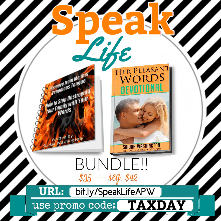 Speak Life Bundle www.AProverbsWife.com