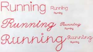 Running Line Font