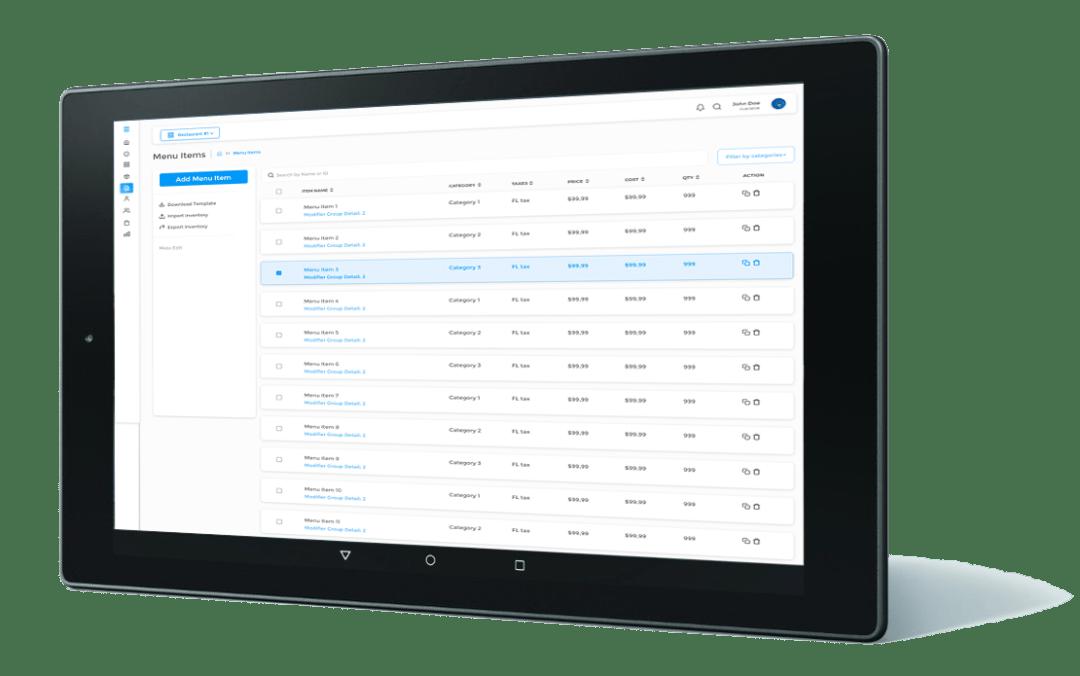 Hybrid POS System for tablets