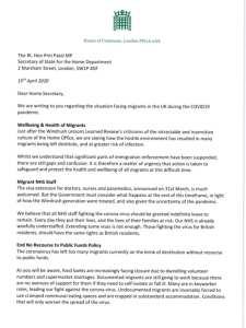 Leter to Priti Patel