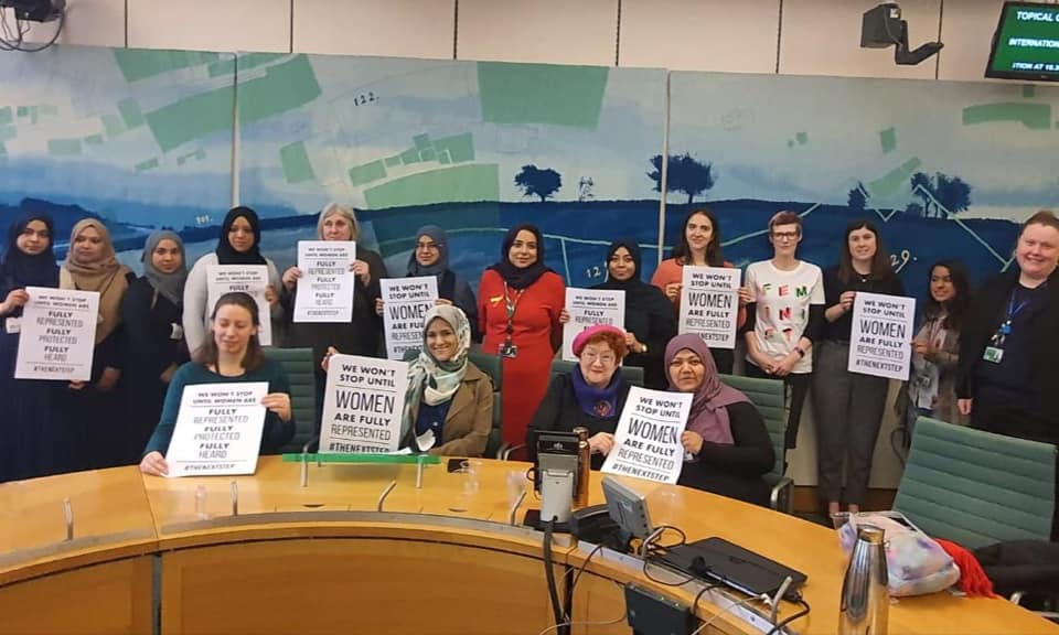 Local women in Parliament Women's Day