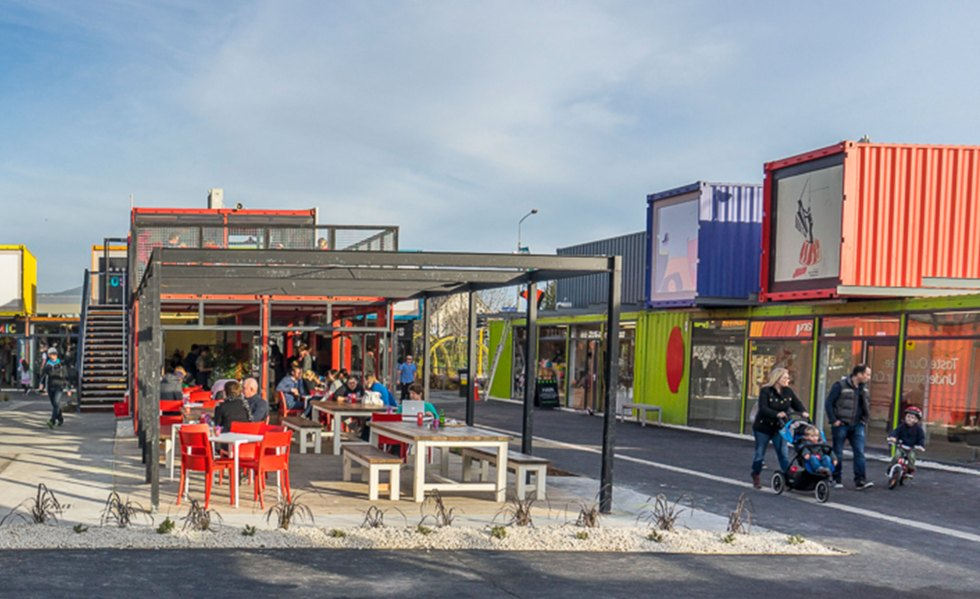 APS Green Site: A New Zealand Shipping Container Mall