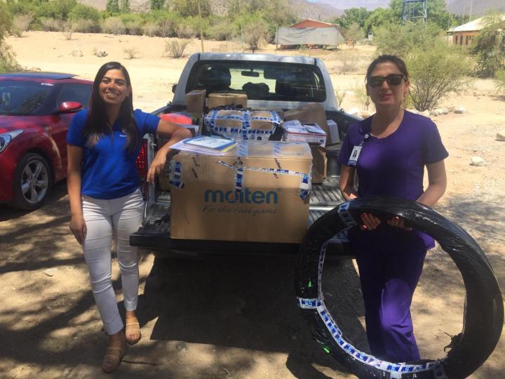 Programa Promoción de Salud entrega de equipamiento deportivo a colegios locales