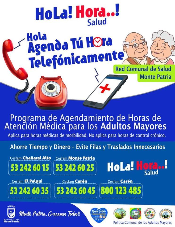 Se implementa nuevo sistema telefónico para la toma de hora para adultos mayores