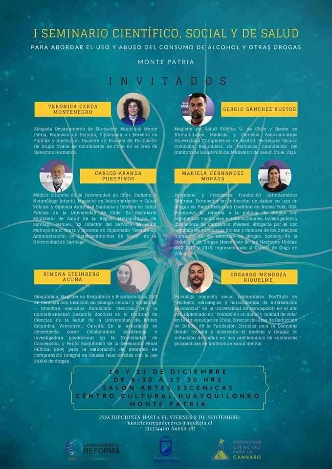 Se realiza 1° Seminario Científico, Social y de Salud para abordar el uso y abuzo del consumo de alcohol y otras drogas