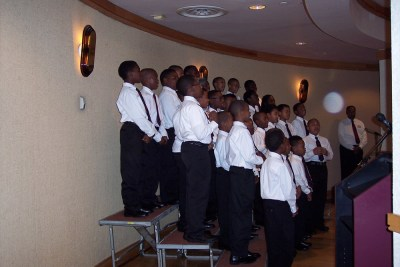 AIL Boys Choir sings at the AT&T Calendar Opening Luncheon