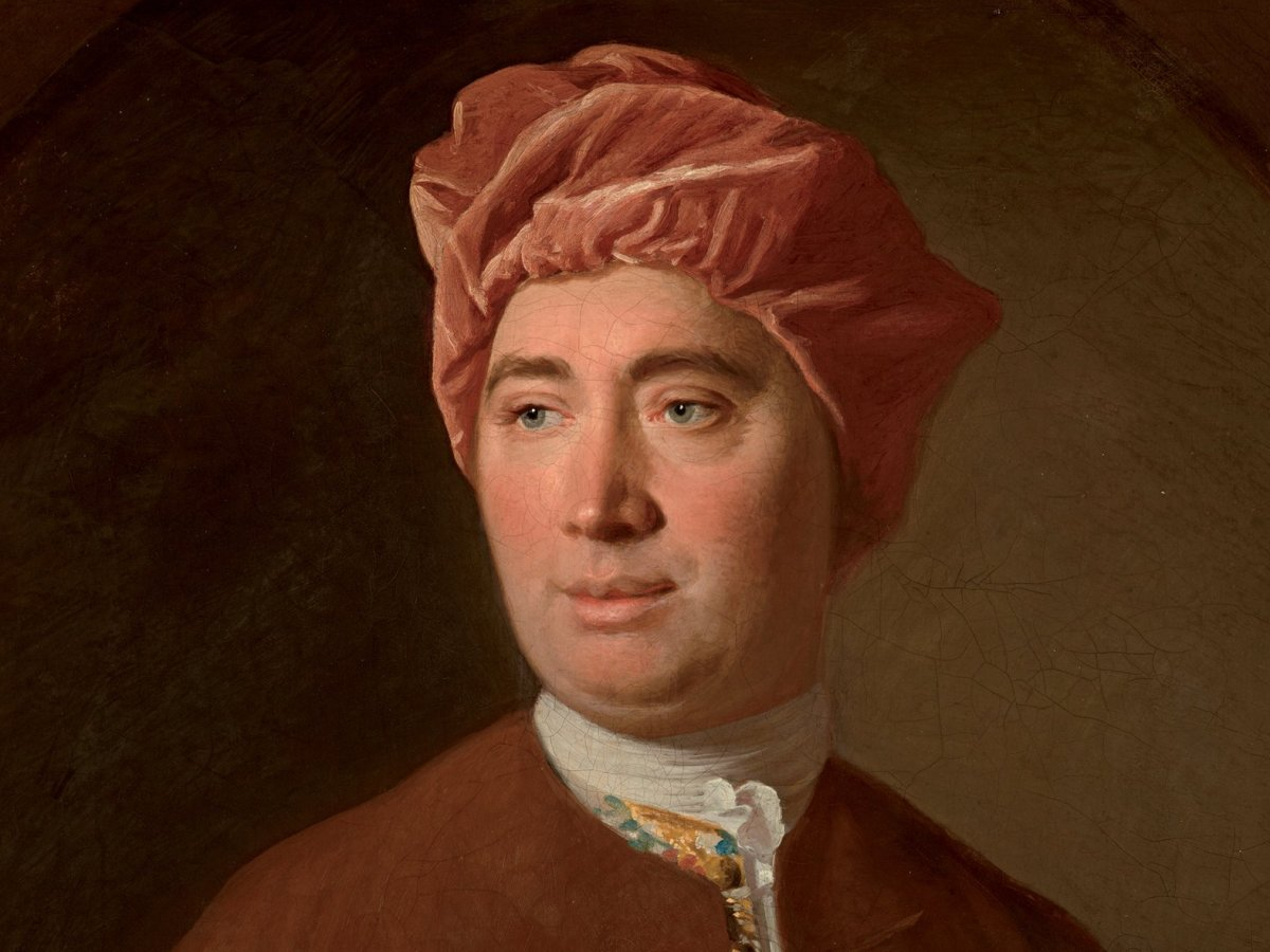 David Hume pondering his problem of induction